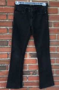 7cffdbf3f044e Mother Brand Jeans Size 26 The Runaway A Model Spy Black Bootcut ...