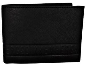 Men-039-s-Wallet-Black-BIKKEMBERGS-Wallet-Men-DB-Wallet-Stripe-Billfold-5C-C