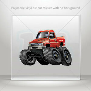 Decal-Sticker-Monster-truck-Helmet-Atv-Bike-polymeric-vinyl-Garage-st7-224ZK