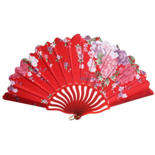Folding Chinese Hand Fan Fashion Party Dress Accessory Summer Plastic Fan Decor