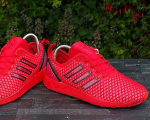 BNWB Orig Adidas Originals ZX Flux ADV rosso/nero Scarpe Da Ginnastica Varie Taglie