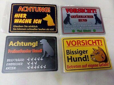 1 Stück Warnschild Haus Hof Gag Lustiges Schild Vorsicht Achtung Hund Warnung