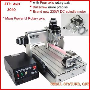 four-4-axis-3040-300W-cnc-router-engraver-engraving-milling-and-drilling-machine
