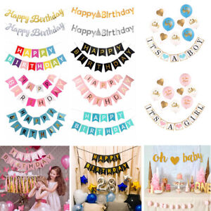 Baby-Shower-Gold-Letter-Happy-Birthday-Banner-Flag-Garland-Birthday-Party-Decor