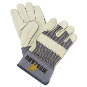 R3-Safety-1935L-Mustang-Leather-Palm-Gloves-Blue-cream-Large-12-Pairs