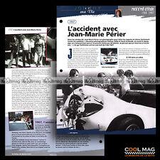 #jh011.01 ★ 1967 L'ACCIDENT AVEC JEAN-MARIE PERIER ★ Fiche JOHNNY HALLYDAY