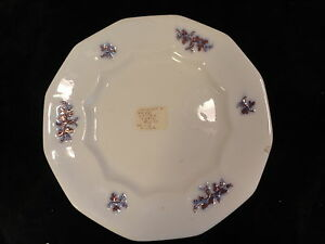 Antique-White-Copper-Blue-Luster-Plate-12-Panelled