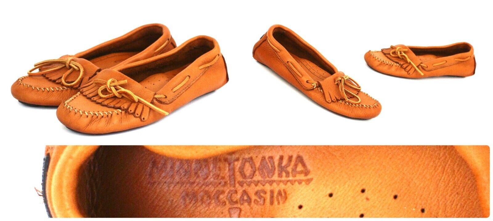 Minnetonka Men's Sz 9 Moosehide Driving Moccasin - Fast Ship