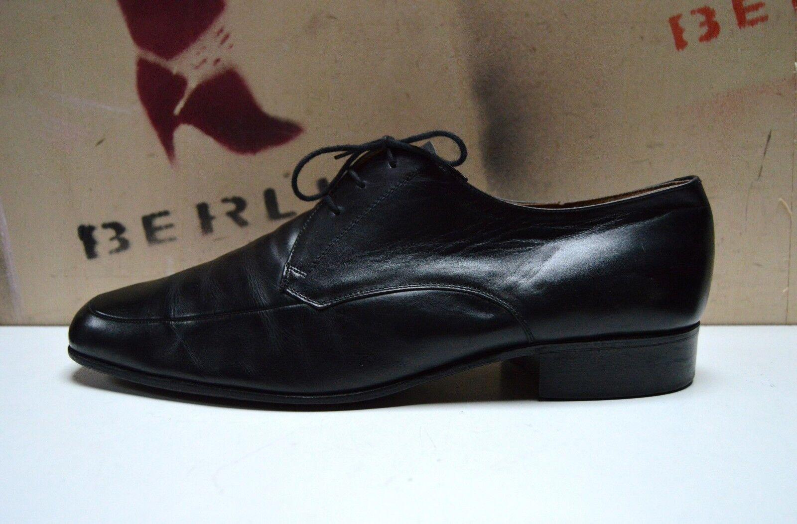 MANZ Herren Schnürschuhe 80er TRUE Vintage 90er Halbschuhe Business schwarz UK11    | Hat einen langen Ruf