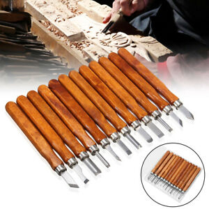 12-PCS-Wood-Carving-Hand-Chisel-Tool-Set-Professional-Woodworking-Gouges-Steel