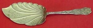 """Antiques Saint Leon By Wallace Sterling Silver Ice Cream Server Bright-cut 9 1/4"""" Beautiful And Charming"""