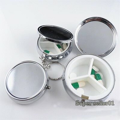 Metal Round Pill Boxes Advantageous Container Medicine Case Pill Case Fashion