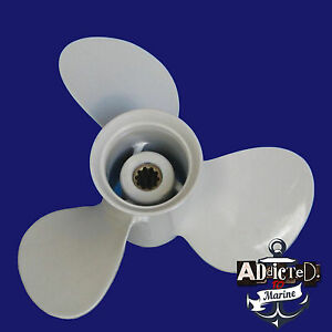YAMAHA-9-7-8-x-10-1-2f-NEW-Propeller-Prop-20-25-30HP-OUTBOARDS-3-Blade-Aluminum