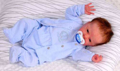STRAMPLER SET 50 Erstlingsset Jäckchen Blau Anzug Reborn Neugebore
