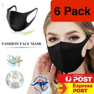6 Pack Washable Unisex Face Mask Mouth Masks Protective Reusable Now In Stock Ebay