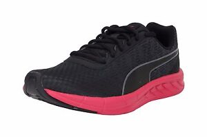 Puma-Women-Shoes-Comet-Black-Red-Charcoal-Light-Weight-Running-Mesh