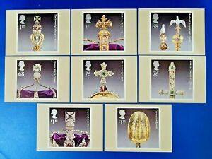 PHQ Stamp Postcards Set of 8 No.353 The Crown Jewels 2011 OD6