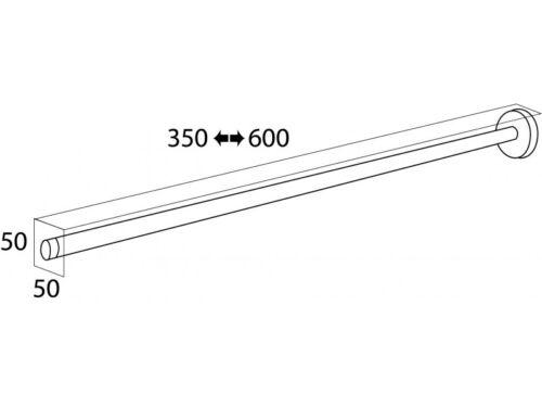 Handtuchhalter BOSTON teleskopisch ausziehbar 35-60 cm 1-armig Schwarz Matt