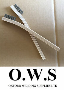 2 X Stainless Steel Wire Brushes For Aluminium Welding Low