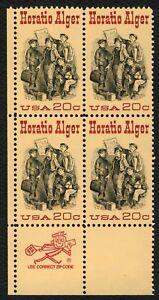 #2010 20c Horatio Alger, Cremallera Bloque [ Ll ], Nuevo Cualquier 5=