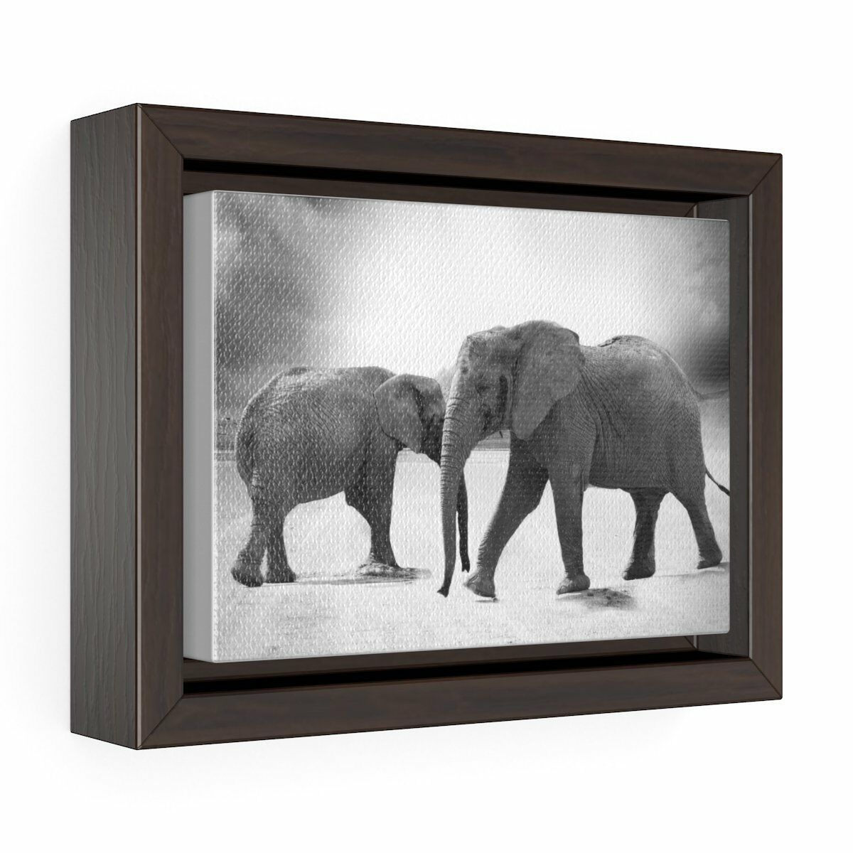 Never Forget Horizontal Framed Premium Gallery Wrap Canvas