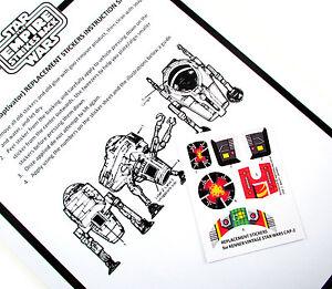 Vintage Replacement Star Wars Vintage Cap 2 Mini Rig  Stickers Labels