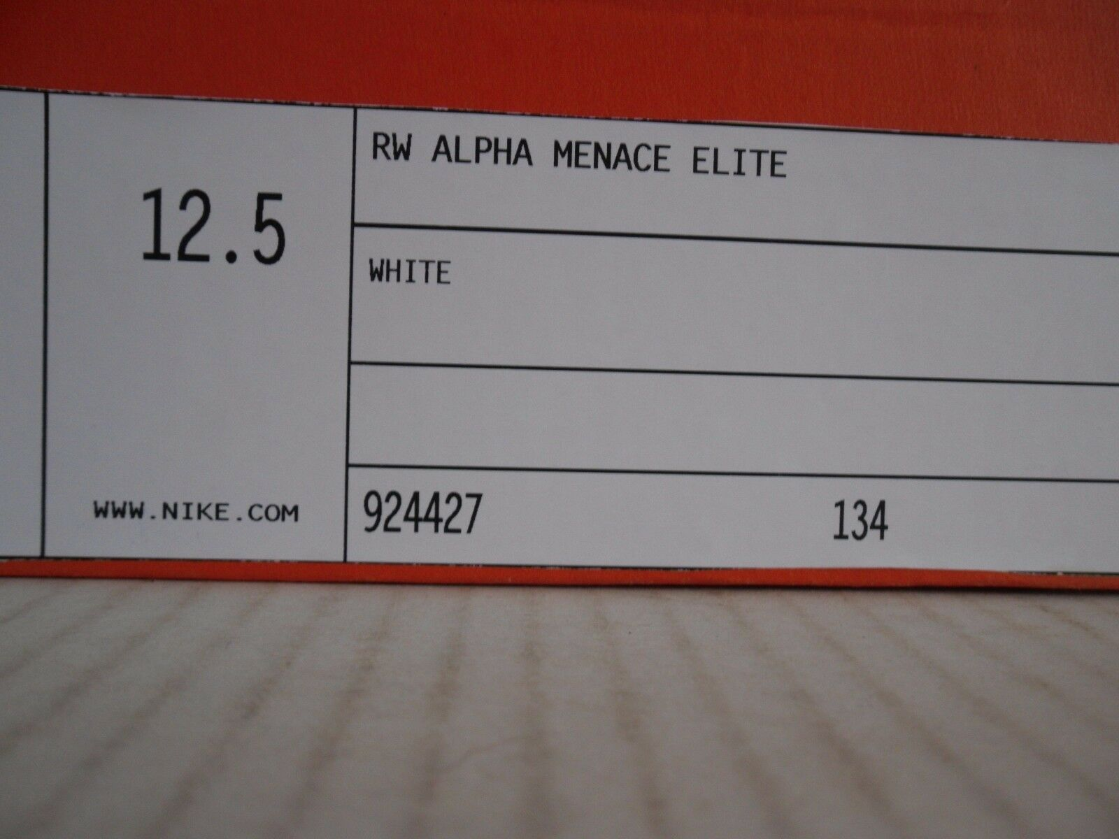 3e217ff0a79 Nike Alpha Menace Elite Russell Wilson Cleat Size 12.5 W  Autograph   2   12  for sale online