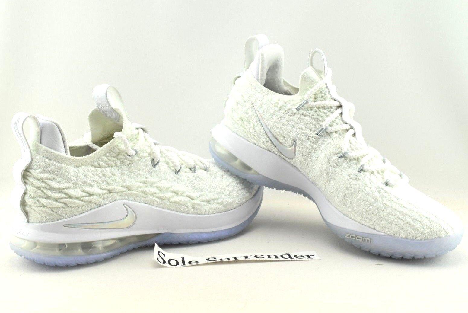 Nike Lebron XV Low - CHOOSE SIZE - AO1755-100 Triple Whiteout Silver 15 James Wild casual shoes