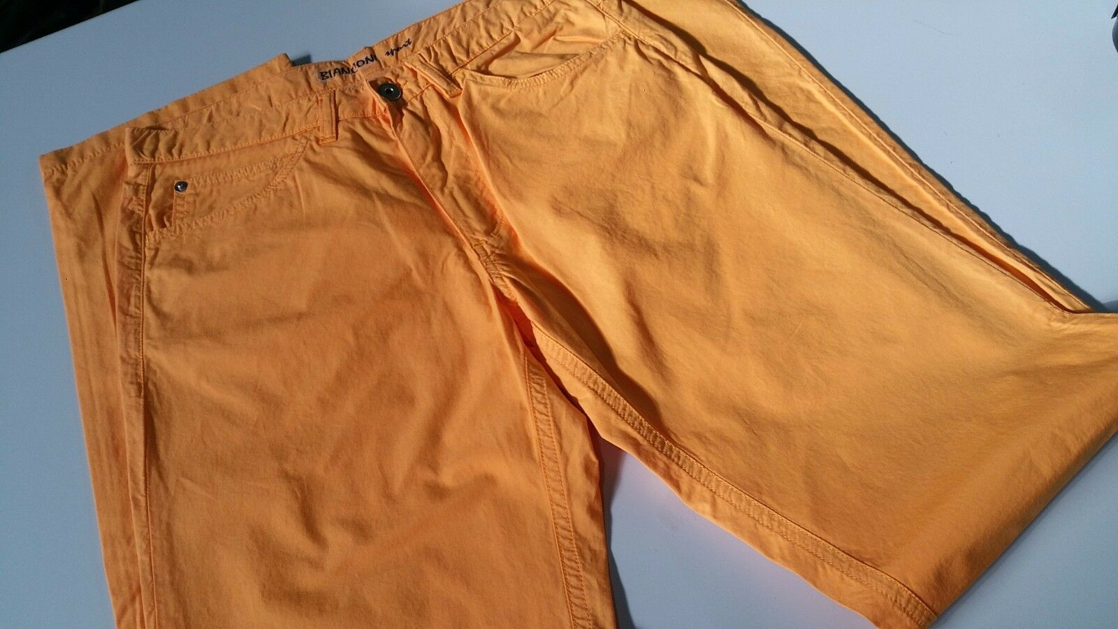 MEN'S TROUSERS orange BIANCONI SPORTI. MEASUREMENT 48 COTTON LIGHT AND FRESC