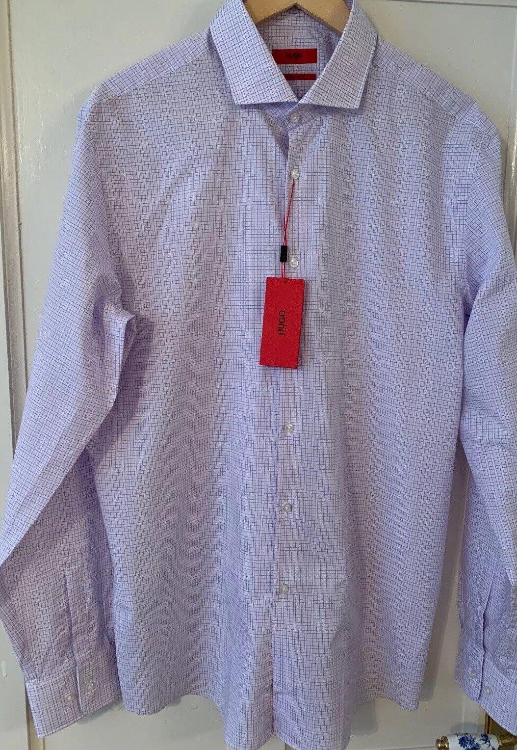BNWT Men's Hugo Boss Sharp fit shirt Size 17 1 2