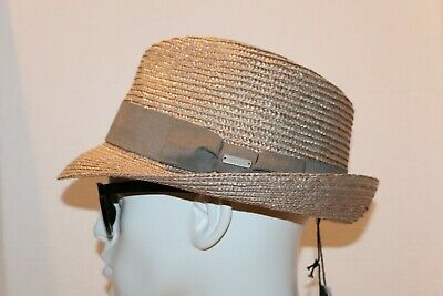 KANGOL  Tan  Bamboo  Arnold  Trilby  Hat