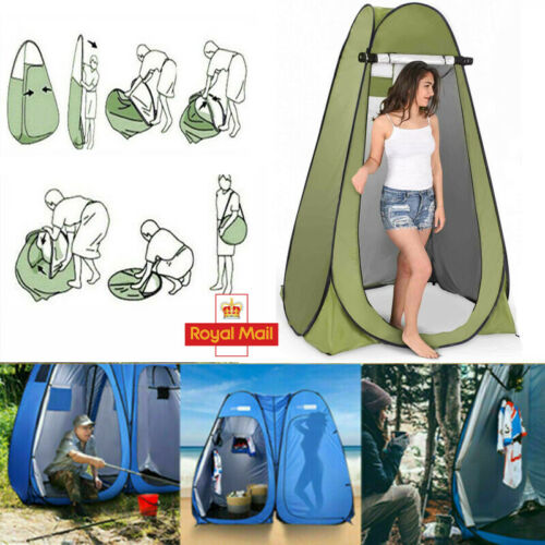 Portable Instant POP UP Shower Tent Camping Toilet Outdoor Changing Room UK