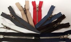 YKK Metall Hosen Reißverschluss 10-20cm 25 Farben