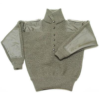 100% Lana Merino Nuovo Dachstein Woolwear Militare Maglione Pullover Da Austria
