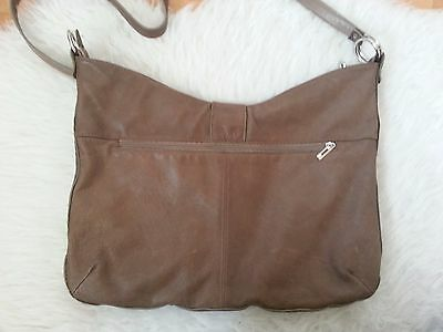 Echtledertasche Made in Italy Borse in Pelle Genuine Leather Braun
