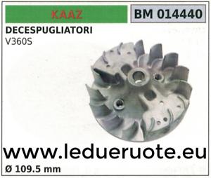VOLANTE MAGNÉTICO imán ventilador CORTADOR DE CEPILLO KAAZ V360S Ø109.5