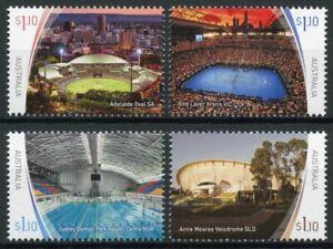 Australia Sports Stamps 2020 MNH Stadiums Tennis Cricket Cycling Swimming 4v Set