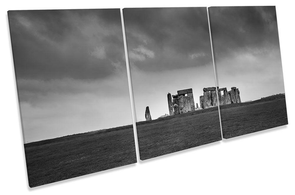 Lienzo Enmarcado Stonehenge BW impresión de arte de la pared de impresión agudos e15bf3