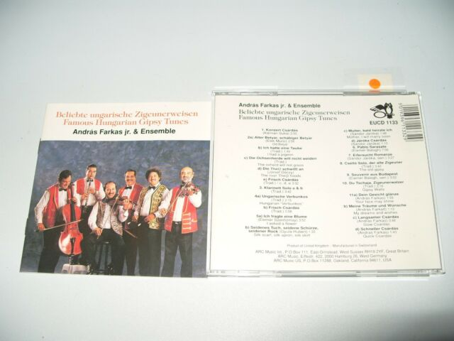Andras Farkas Jr. & Budapest Ensemble - Famous Hungarian Gypsy Tunes cd 1991 Ex