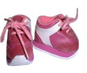 Dark Pink Sneakers with White Trim Fits