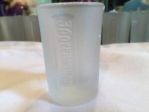 Jagermeister-2-Tall-Frosted-Shot-Glasses-DEER-HEAD-Logo-Bottom-NEW-GIFT-IDEA