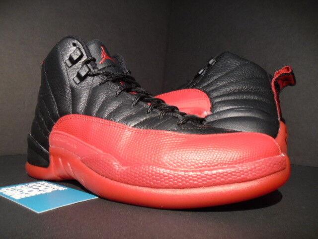 Nike Air Jordan XII 12 Retro FLU GAME BANNED BROT BLACK VARSITY ROT BANNED GAME 130690-002 8 389fa6