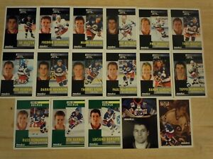1991-92-Pinnacle-French-WINNIPEG-JETS-Team-Set-17-Cards-Includes-3-Rookies