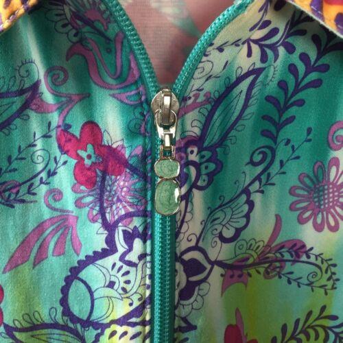 à Veste Sz multicolore floral zippée brillant motif 8 Ribkoff Joseph qOw6x76