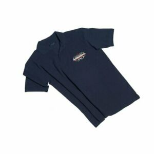 Genuine-Navy-Blue-Mens-Maserati-90th-Anniversary-Polo-Shirt-Large