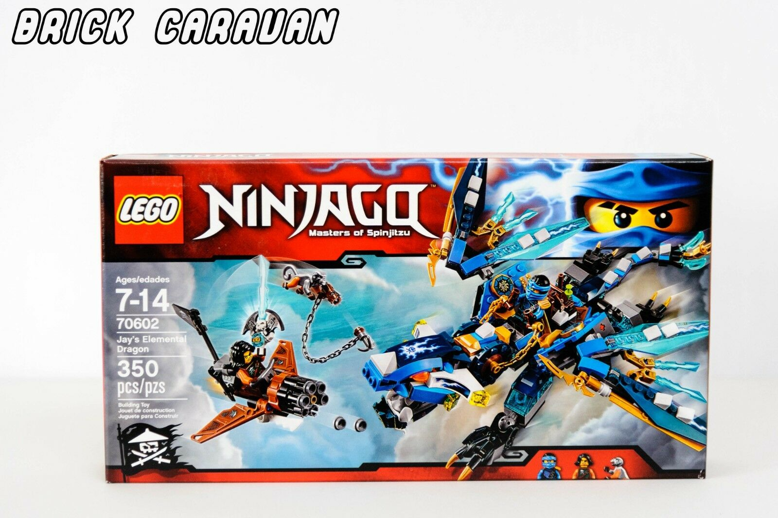 LEGO 70602 Ninjago Jay's Elemental Dragon, NIB RETIRED