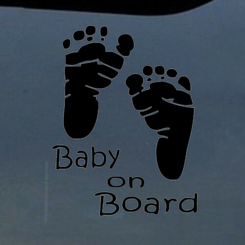 Popular Baby on Board Warning Graphics Decal Decor Auto Car Window Vinyl Sticker