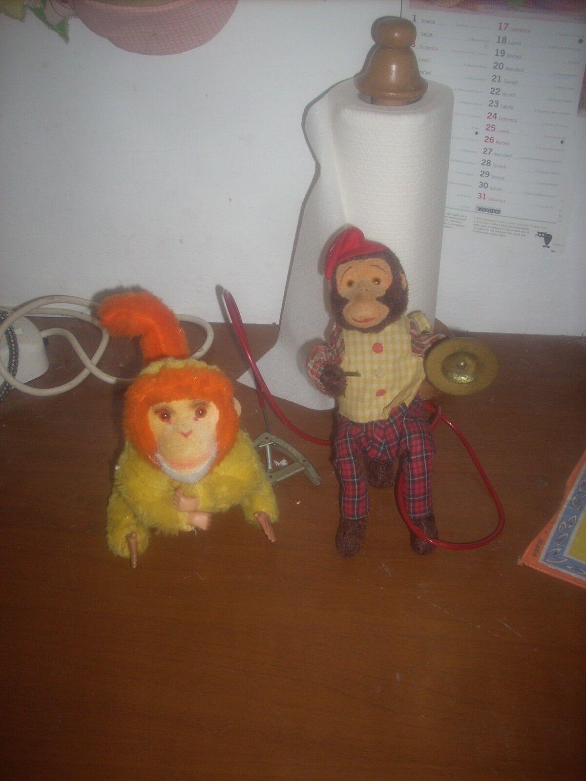 2 scimmiette  pupazzi vintage  1 original carl made in germany leggi....