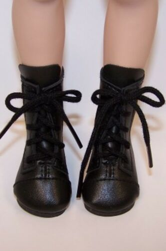"""BLACK LaceUp Short Boots Doll Shoes For 16/"""" Kish Four Season Dolls Debs"""