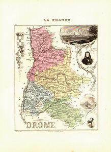 Carte du Département de la DROME - vers 1874-Migeon DKaS1fDL-09120216-417243443